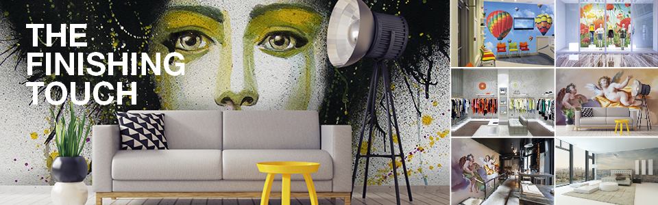 Quick, customisable and creative wall decoration