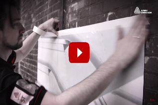 Brick Wall Wrapping with Avery Dennison MPI 1405 Wrapping Film